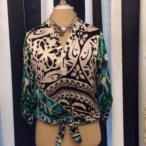 Silk , beautiful print shirt